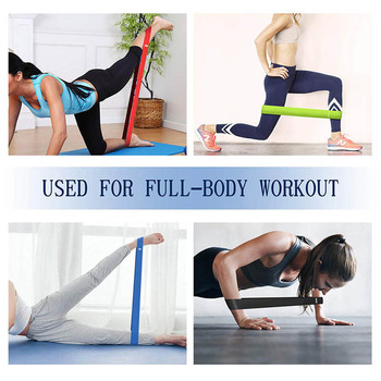 5Pcs/set Resistance Bands with 5 Different Resistance Levels Yoga Bands Home Gym Exercise Fitness Equipment Pilates Training 4
