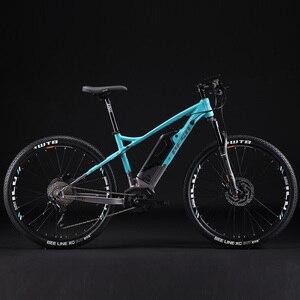 27,5 дюймов XC горный ebike 350 Вт Средний мотор умный электрический mountian велосипед PESU E-BIKE 500wh литиевая батарея Максимальная скорость 50 км/ч