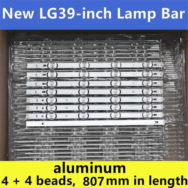 """8 adet (4A + 4B) LED aydınlatmalı şerit 390HVJ01 lnnotek drt 3.0 39 """"39LB5700 39LB650V 39LB5800 39LB561F NC390DUN VXBP2 V390HJ4 PE1"""