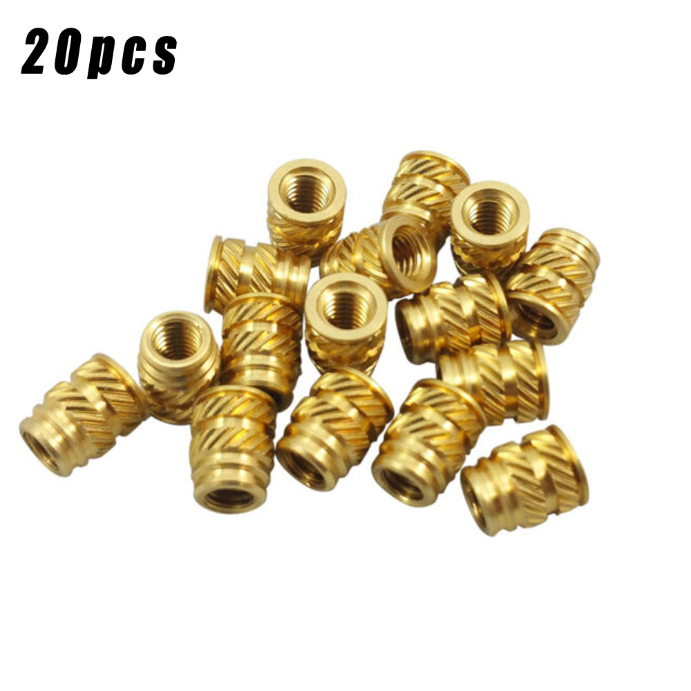 20pcs Heat-Set Screws M3 3mm M3-0.5 Brass Threaded Metal Thermosetting Screw Insert 3D Print Long High Quality