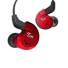 TRN V80 2BA + 2DD hybrydowe prawdziwe metalowe słuchawki douszne IEM HIFI DJ Monitor sportowe słuchawki do biegania słuchawki douszne V90 X6