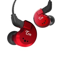 Trn V80 2BA + 2DD Hybrid Real Metalen Oortelefoon In Oor Iem Hifi Dj Monitor Running Sport Oortelefoon Oordopje Headset v90 X6