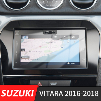 190x103mm Car Center Console GPS Navigation Screen Protective Toughened Glass Film For Suzuki Vitara 4th 2016-2018 image