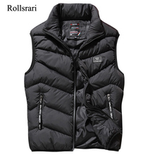 L 8XL Sleeveless Vest Men Spring Autumn New Fashion Casual Coats Male Cotton Padded Mens Vest Male Jacket Thicken Waistcoat K88