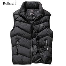 L 8XL kamizelka bez rękawów mężczyźni wiosenny i jesienny nowy mody płaszcze casualowe męskie bawełny wyściełane kamizelka męska kurtka zagęścić kamizelka K88