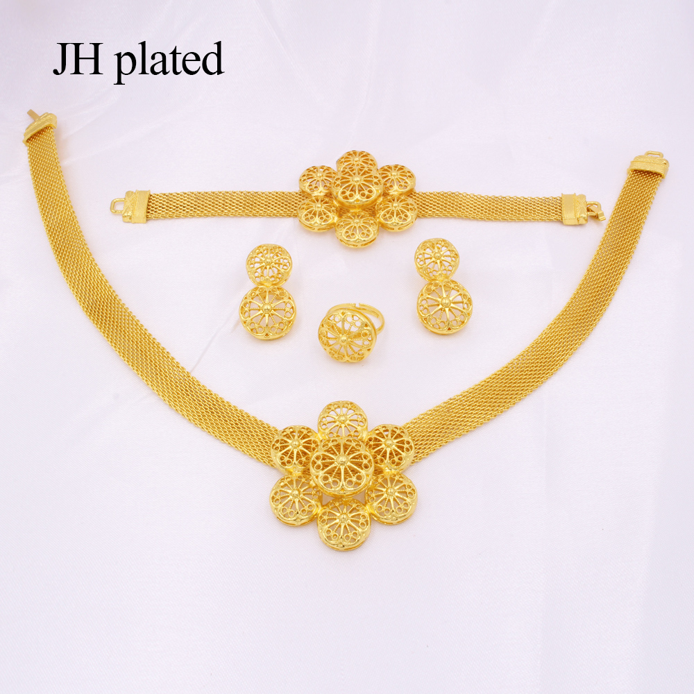 Hot DealsJewelry-Sets Bracelet Earrings Party-Necklace Saudi Wedding-Gifts Gold-Color Women African