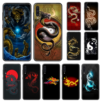 Chinese Dragon Phone case For Samsung Galaxy A 3 5 8 9 10 20 30 40 50 70 E S Plus 2016 2017 2018 2019 black luxury bumper soft image