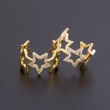 2020 nowych moda regulowany kryształowy pierścień gwiazda olśniewające pierścionki otwarte dla kobiet dziewczyn ślub biżuteria na przyjęcie zaręczynowe prezenty