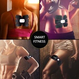Image 3 - بلوتوث التحكم الذكية اللياقة البدنية تدريب البطن عشرات العضلات محفز EMS الأسلحة مدلك الكهربائية فقدان الوزن ماكينة الجسم
