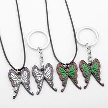 Anime Demon Slayer Theme Nceklaces Caroon Kochou Shinobu Butterfly Necklaces Jewelry Gift For Girls Friends джемпер caroon