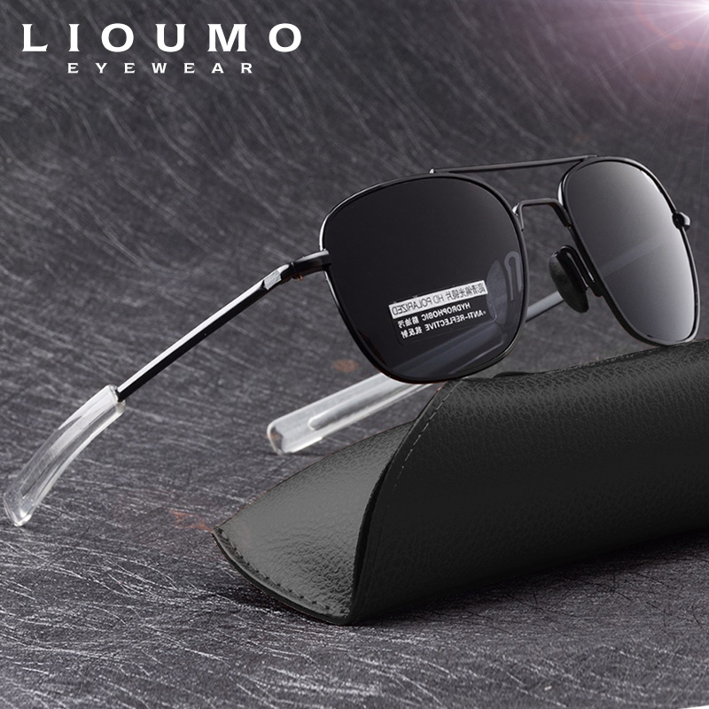 Classic USA Air Force Military Aviation Sunglasses Men HD Polarized Driving Glasses Women Travel Eyewear Mirror Anti-Glare UV400