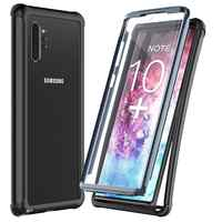 For Galaxy Note 10 Plus 5G Case Built-in Screen Protector Full Body Heavy Duty Dropproof case Protect Support Wireless Charging