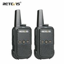 2pcs Retevis RT15 Mini Walkie Talkie Portable Two Way Radio Station UHF VOX USB Charging Transceiver Communicator Walkie-Talkie