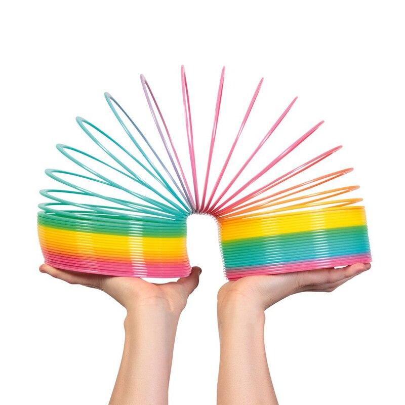 Creative Decompression Plastic Rainbow Circle Magic Circle Children's Toys
