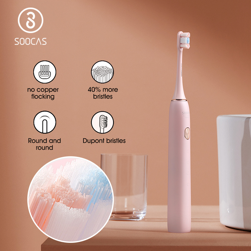 SOOCAS X3U  Sonic Electric Toothbrush Teeth Whitening Care Fast Charge Replaceable Brushes Head  Washable Ultrasonic Tooth Brush