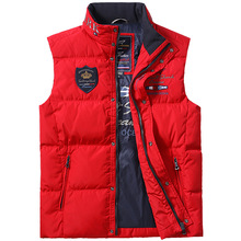 Bruce&Shark 79% Duck Down-Feather Men Vest Casual Fashion Business Top Embroidery Winter Style Coat Top quality Size M TO 3XL