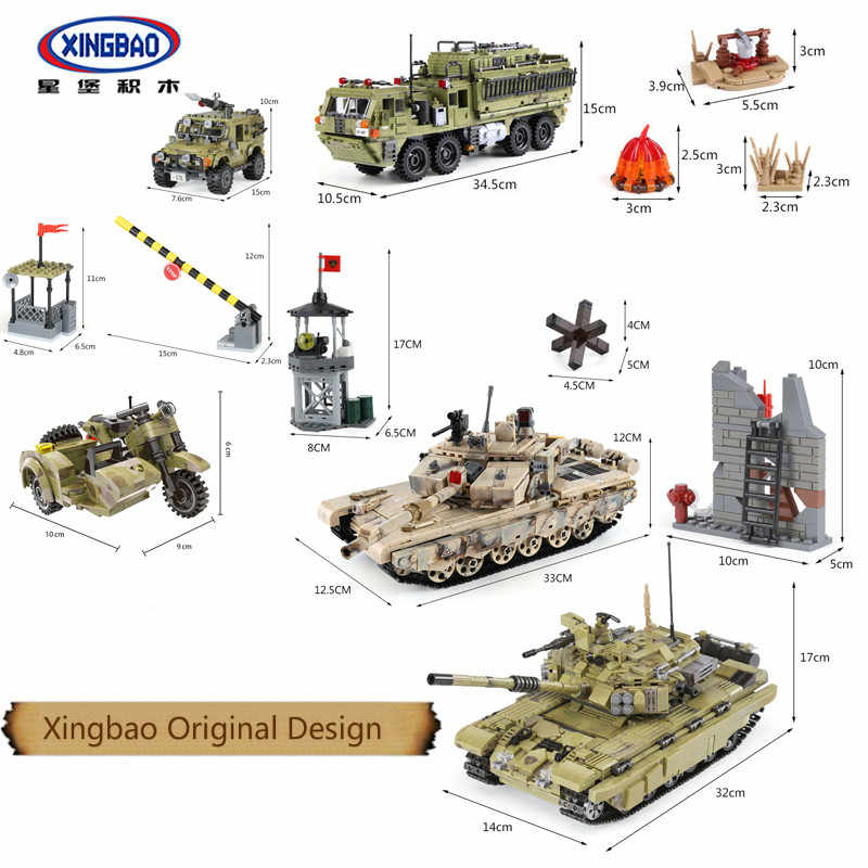 XingBao Army Series Sets Figures Tiger Tank Building Blocks bricks Children Toys SWAT Military Compatible with LEGOINGLYS