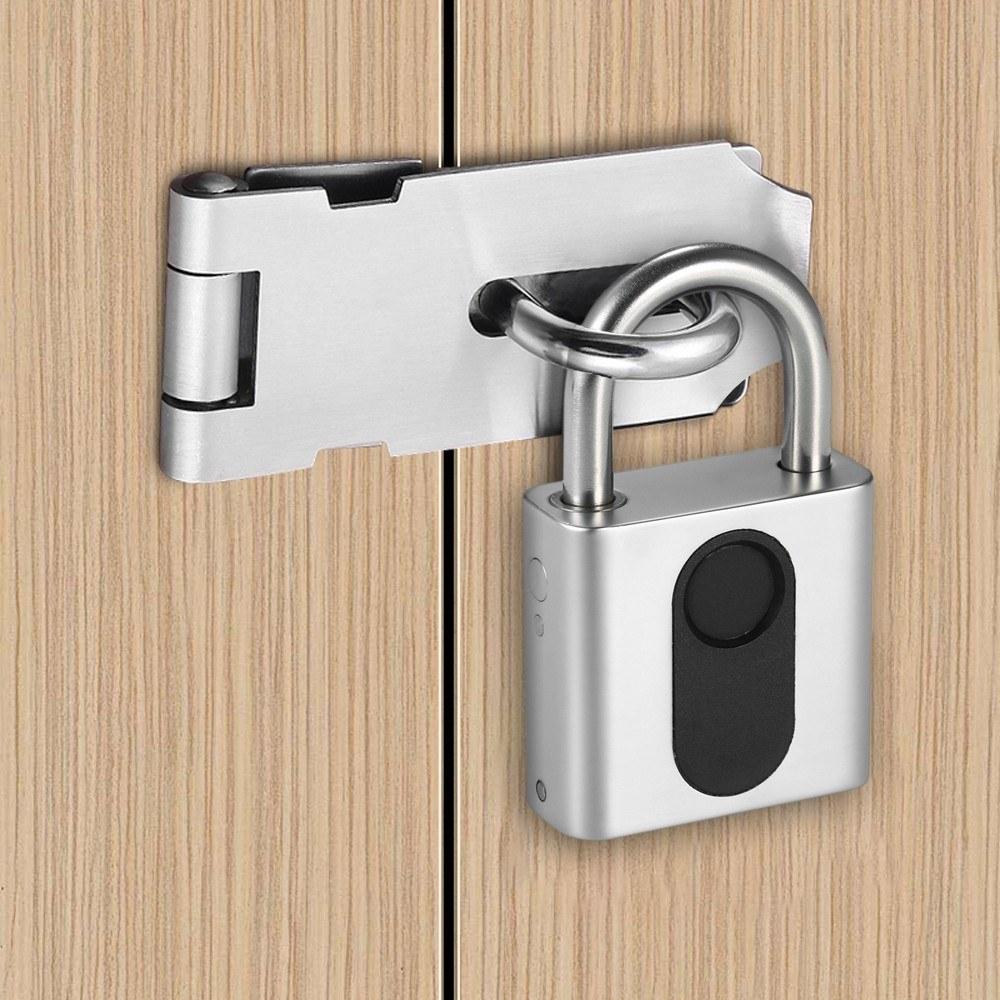 Keyless Smart Fingerprint Pad Lock with USB Charging for Smart Security of Cabinet or Door 2
