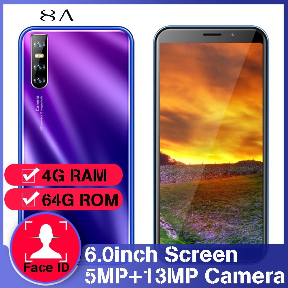 8A 6,0 «Глобальная версия quad core смартфонов 13MP 18:9 4 Гб Оперативная память 64 Гб Встроенная память face ID разблокирована Мобильные телефоны android деш...