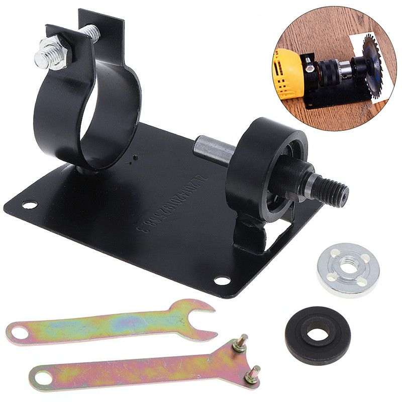 3pcs/set 10mm Electric Drill Cutting Seat Stand Holder Set With 2 Wrenchs And 2 Gaskets For Polishing / Grinding
