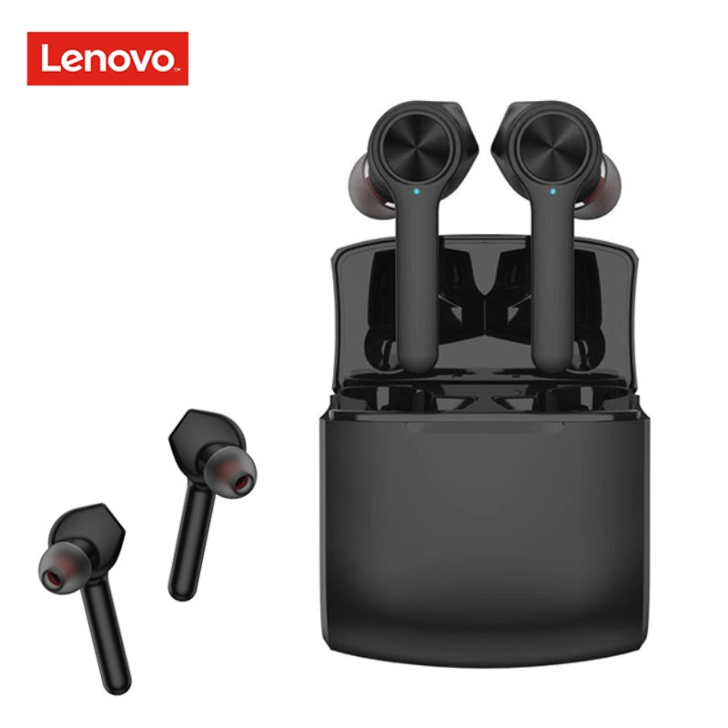 Lenovo Earphone HT20 TWS True Wireless Earbuds Bluetooth 5.0 with Extra bass Wireless Headphones Noise Cancelling Gaming Headset(China)