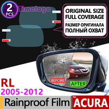 For Acura RL 2005-2012 KB1 KB2 Full Cover Anti Fog Film Rearview Mirror Rainproof Foils Clear Soft Films Accessories