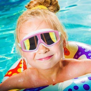 Dziecięce gogle pływackie dla chłopców dziewczęta gogle pływackie przeciwmgielne duża wersja okulary pływackie pełne powlekane dziecięce gogle pływackie tanie i dobre opinie Aotu Octan Chłopcy swim goggles MULTI sw77 Poliwęglan children swimming equipment