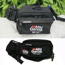 Fishing Tackle Waist Bag Waterproof Shoulder Carry Case Multi-Pocket Lure Reel Line Hook Swivel Snaps Connector Storage Pack ABU