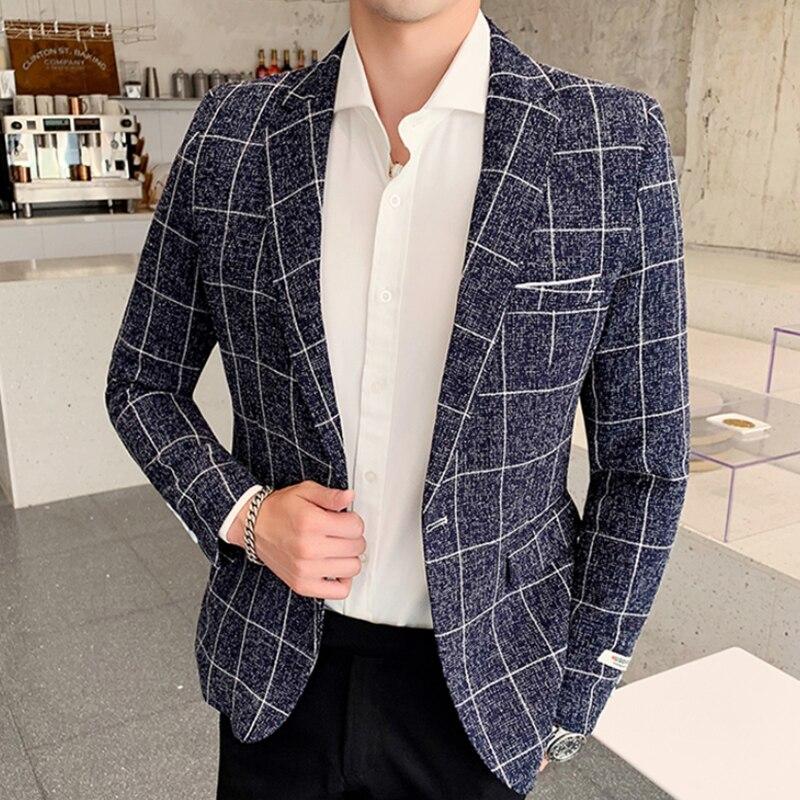 2019 Newest Tide Mens Fashion  Suit Blazer Design Plus Size Casual Male Slim Fit Suit Jacket Singer Costume Americana Hombre