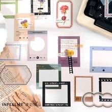 15 sztuk/zestaw Time border series dekoracyjne naklejki Scrapbooking diy Stick Label Diary biurowe Album Journal naklejka ramka