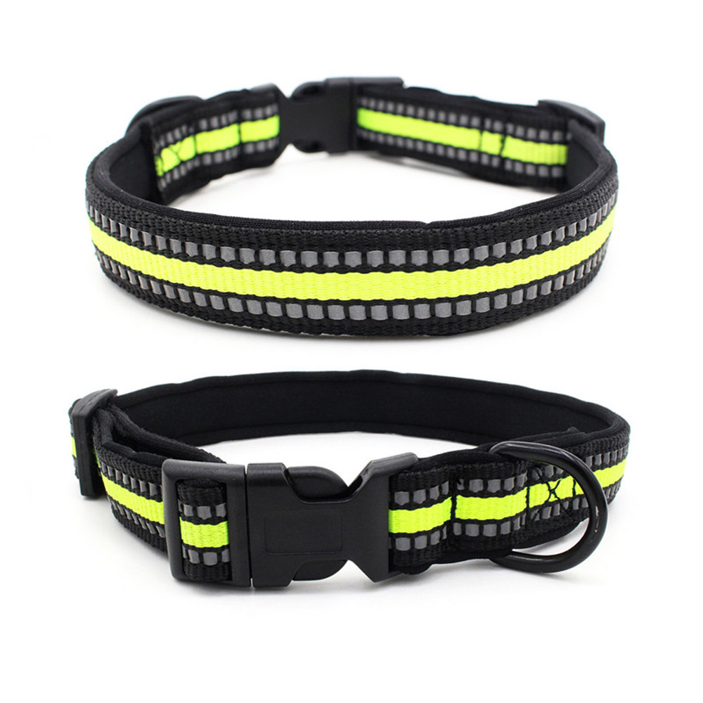 New Style Diving Cloth Lining Reflective Woven Tape Dog Neck Ring 2019 New Products Release Buckle Pet Collar