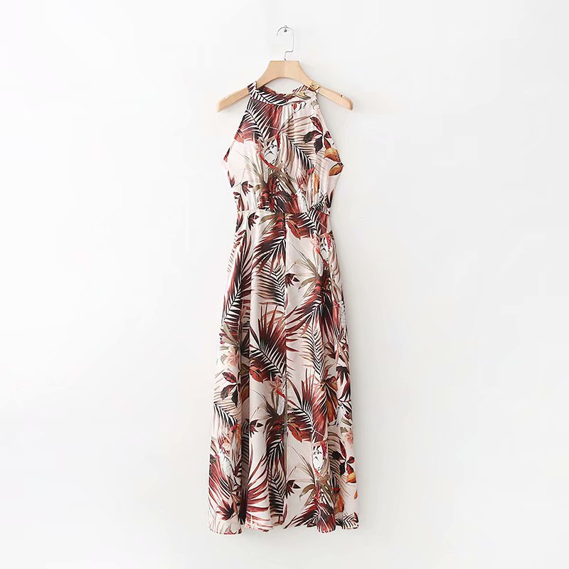 2018 Western Style Spring And Summer Women's Dress New Style Long Printed Formal Dress