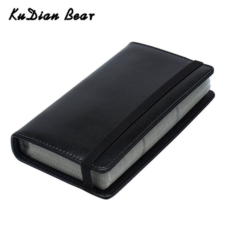 KUDIAN BEAR Women Business Card Holder Card Organizer Big Capacity 120 Cards Men Credit ID Card Wallet Tarjetero BIH098 PM49