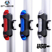 Luz LED trasera recargable para bicicleta luz trasera USB Luz de seguridad trasera advertencia luz de ciclismo luz Flash portátil súper brillante