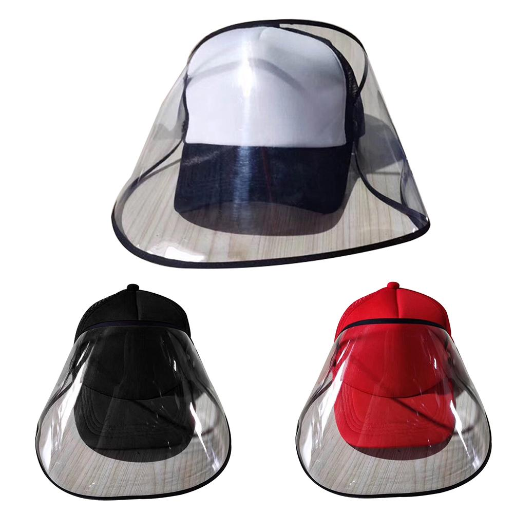 Adult Outdoor Sun Protection Baseball Cap Hat Removable Anti Saliva Face Mask