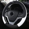 37-38 см новые чехол рулевого колеса автомобиля искусственная кожа рулевое колесо Чехлы Воздухопроницаемая ткань оплетка авто аксессуары Ун...