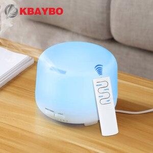 Image 1 - 300ml USB שלט רחוק קולי אוויר ארומה אדים 7 צבע LED אורות חשמלי ארומתרפיה חיוני שמן ארומה מפזר