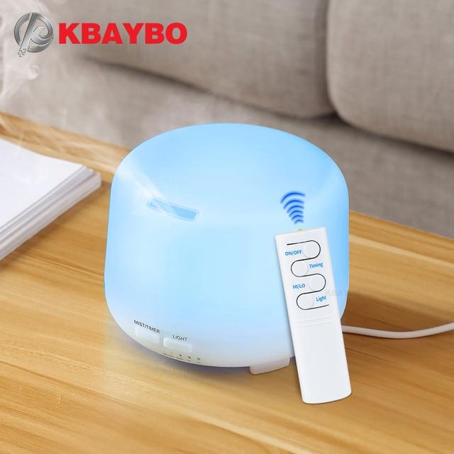 300ml USB שלט רחוק קולי אוויר ארומה אדים 7 צבע LED אורות חשמלי ארומתרפיה חיוני שמן ארומה מפזר