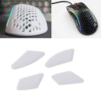 New Arrival 1 set/pack Enhanced Tiger Gaming Mouse Skates Feet For Glorious Model D White Glides Curve Edge Enhanced M5TB