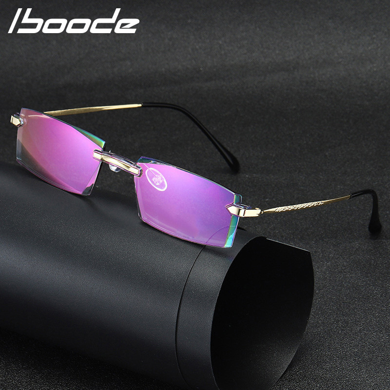 IBOODE Anti Blue Rays Computer Myopia Glasses Men Blue Light Coating Gaming Business Glasses Protection Retro Spectacles Women