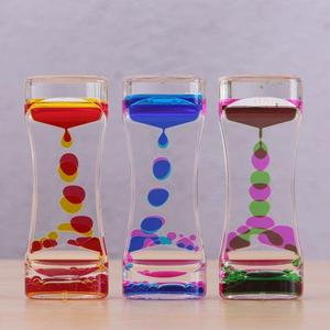Liquid Timer visual sensory toy autism sedation special needs Hourglasses Floating Oil Liquid Visual Motion Timer Glass