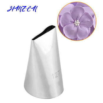 1PCS #127 Cream Piping Nozzle Decorating Icing Tip For Creating Tulip Rose Petal Shape Baking &Pastry Tools Bakeware 47 basket weave piping nozzle small size basketweave decorating tip nozzle baking tools for cakes bakeware icing tip