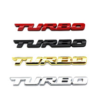 New Car Styling Car Turbo Boost Loading Boosting 3D Metal Chrome Zinc Alloy 3D Emblem Badge Sticker Decal Auto Accessory
