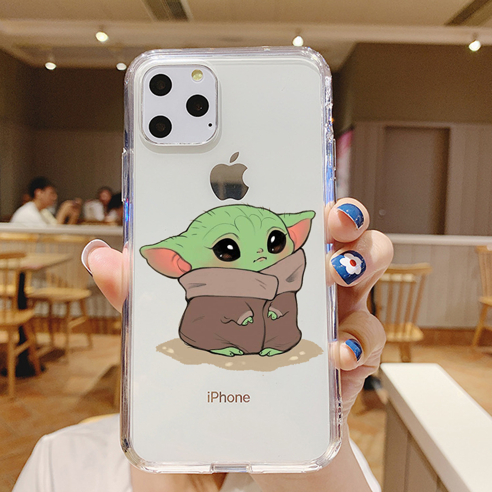 Stitch Cartoon Cute Baby Yoda Meme for iPhone 5 5S SE 6 6S 7 8 X XS Max XR 11 Pro Max Plus phone case cover funda silicone Coque image