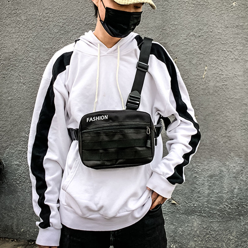 Women Chest Rig Bag Streetwear Chest Bags Vest For Men Shoulder Bag Military Tactical Crossbody Bags Hip-Hop Waist Packs ZY791