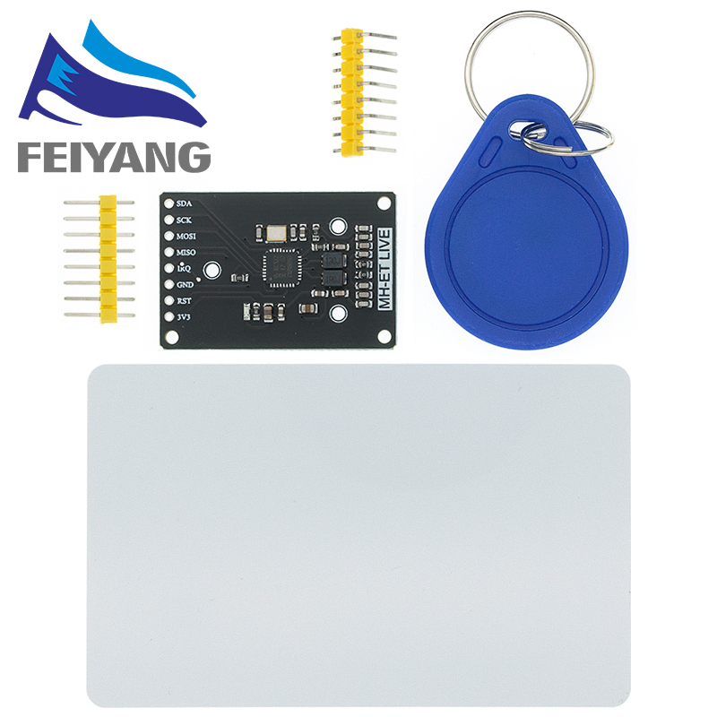10 шт. RFID модуль RC522 мини-комплекты S50 13,56 МГц (6 см) с бирками SPI писать и читать для Arduino uno 2560