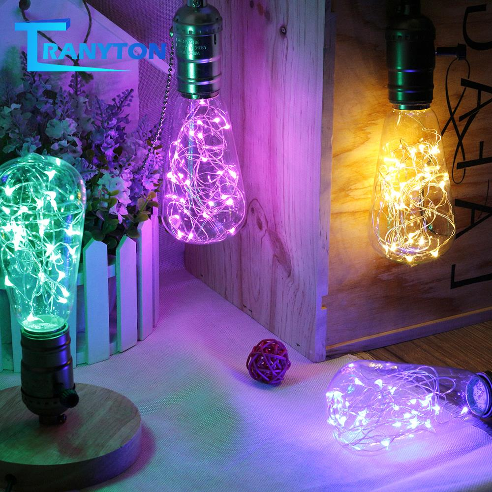 E27 Fairy Light Bulb 220V Christmas Garland Party Patio Window Wall Decorative Lamp Bulbs Copper Wire String Night Lights lamps image