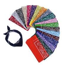 55*55 см Новая мода хип-хоп бандана квадратный шарф мужской черный красный Пейсли повязка на голову с принтом для женщин мальчиков девочек спортивные туристические шарфы