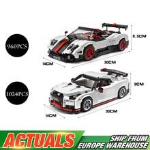 MOC Technic автомобильные игрушки, совместимые с Legoing Sport speed, модель гоночной машины, игрушки для детей, рождественские подарки, строительные блоки, наборы кирпичей