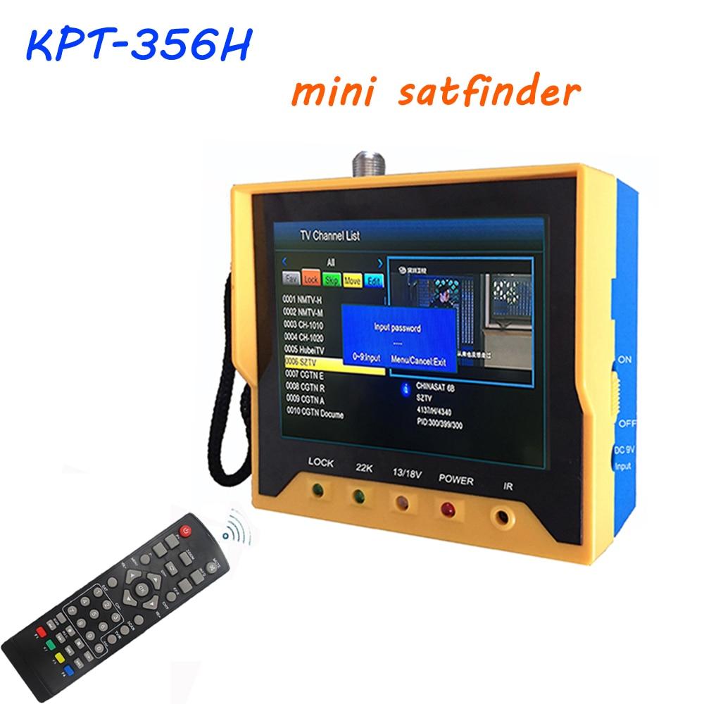 3.5 Inch DVB S2 Satfinder KPT 356H Fast Tracking Full HD Digital Satellite Finder Meter MPEG-4 Modulator DVB-S2 DVB-S Sat Finder
